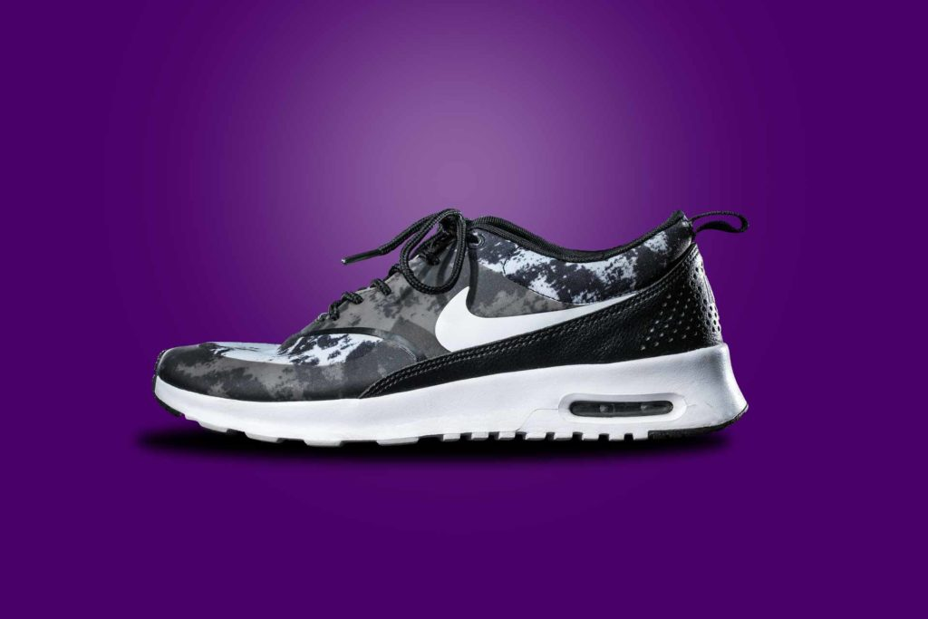 Nike Turnschuh Lila camouflag Produkt Schuh