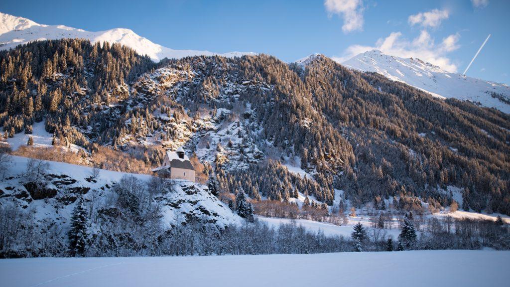 Berge Kapelle Tirol Himmel schnee