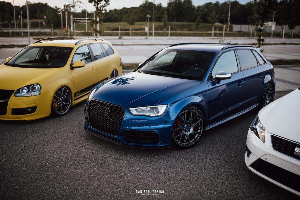 Audi A3 Blau Auto Fahrzeug Regensburg