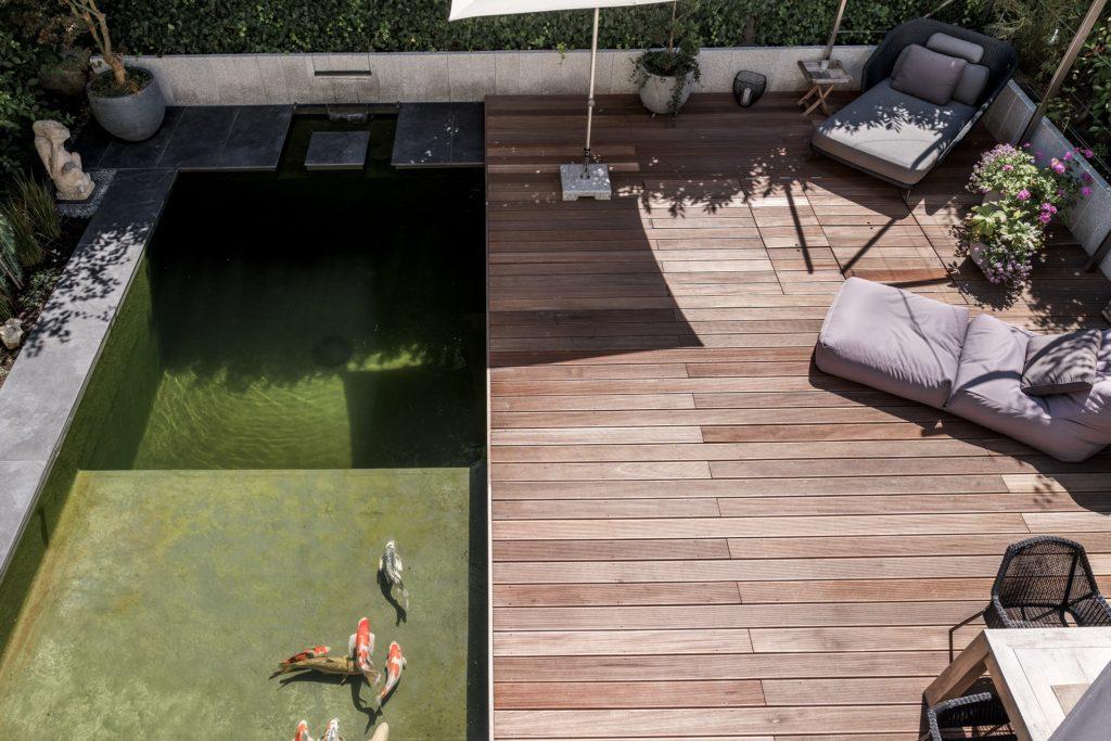 Pool Wasser Garten Terrasse Koi Regensburg