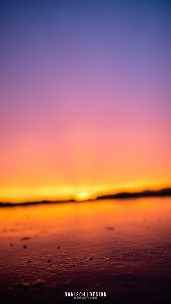 Sonnenuntergang Orange Blau Magenta Regen Wasser Nass Thalmassing