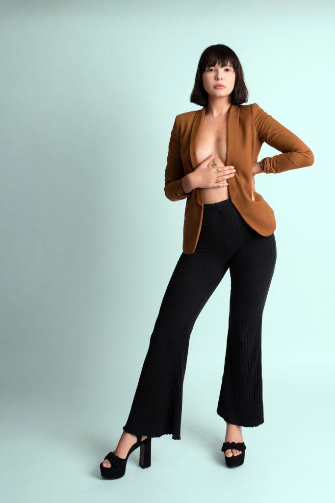 Frau Model Fashion Türkis Sedcard Fotograf